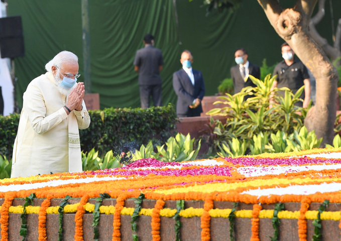 PM Modi pays tribute to Lal Bahadur Shastri on the occasion of his birth anniversary