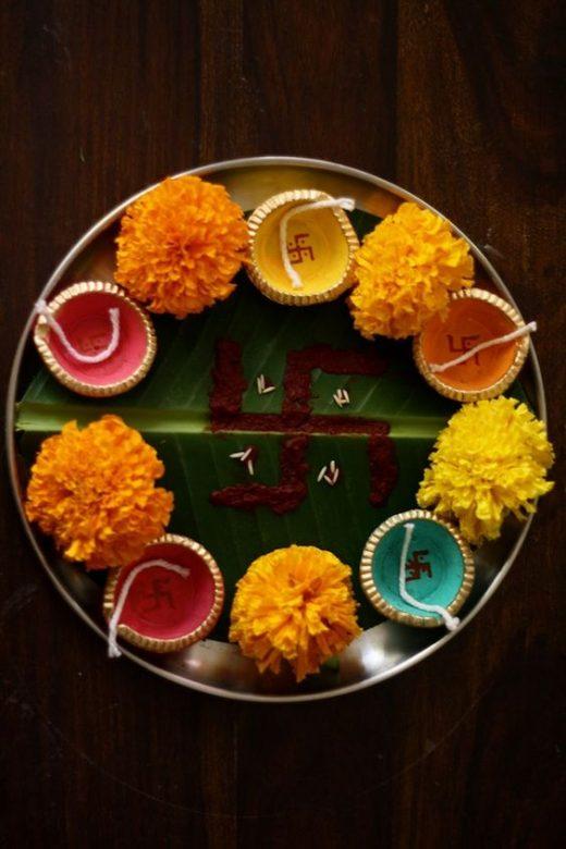 Pooja thali decor for Navratri