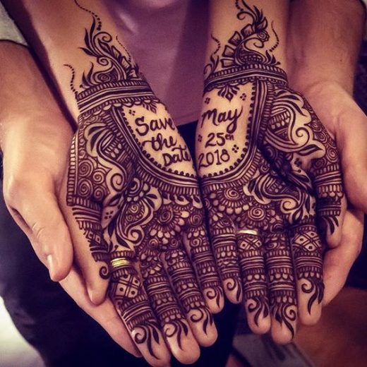 Save The Date with heena hands