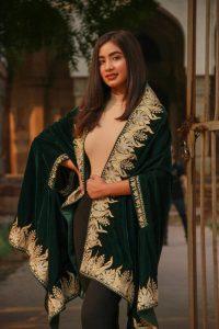 Velvet kurta dress for winters