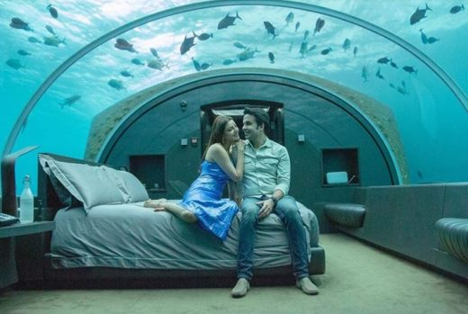 Kajal Aggarwal's underwater stay at Maldives Honeymoon