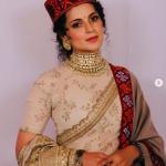 Kangana Ranaut Looks Stunning In Sabyasachi Saree Worn With A Kullu Shawl And Pahari Cap