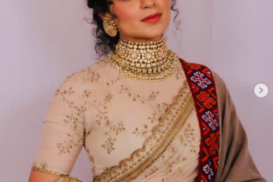 Kangana Ranaut dressed in Pahari cap and Kullu shawl for her brother's wedding recption