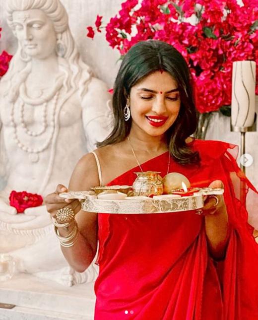 Priyanka Chopra Karwachauth looks