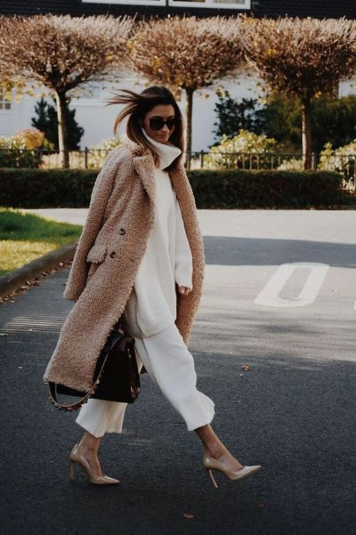Teddy sweater outfits for winters