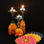 3 Ways To Use Wine Glasses As Tea Light Holders For Diwali