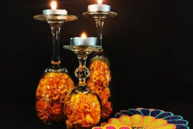 Wine glasses diwali decor ideas-Threads-WeRIndia