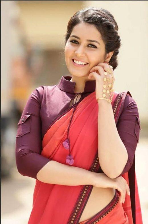 Plain saree blouse design