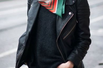 5 ways to use a printed scarf with plain sweaters and sweatshirts