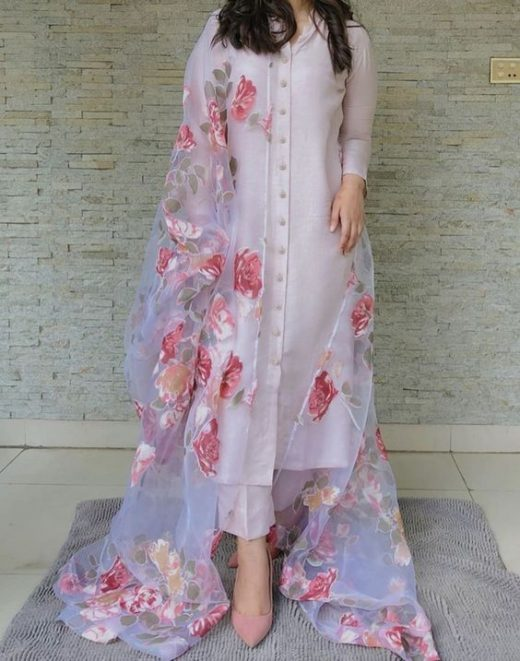 Printed dupatta kurta designs for summers