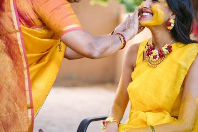 Saree outfits for Haldi ceremony for the bride's to be-Threads-WeRIndia