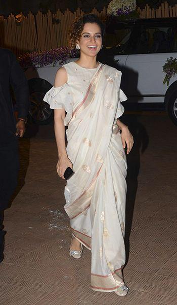 Kangana Ranaut saree blouse style