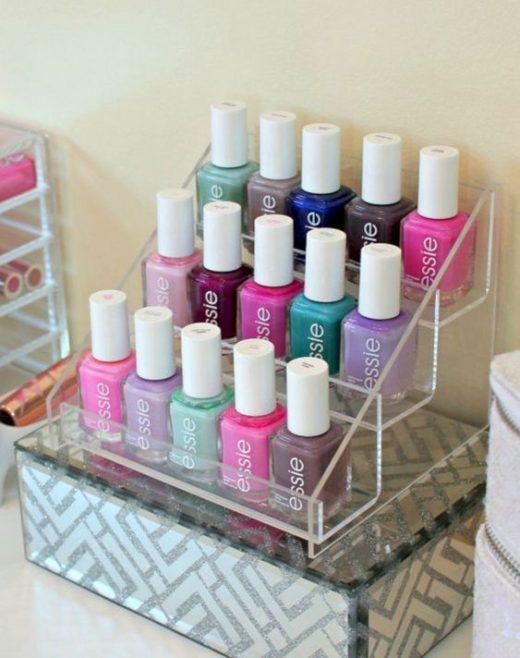 Ways to organiser nail paint bottles