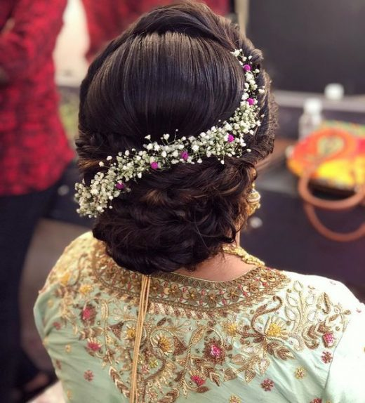 Bun hairstyle for mother of the bride or the groom