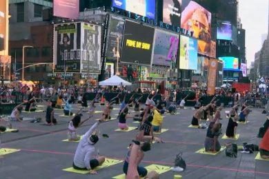 International Yoga Day at Times Square, New York-Threads-WeRIndia