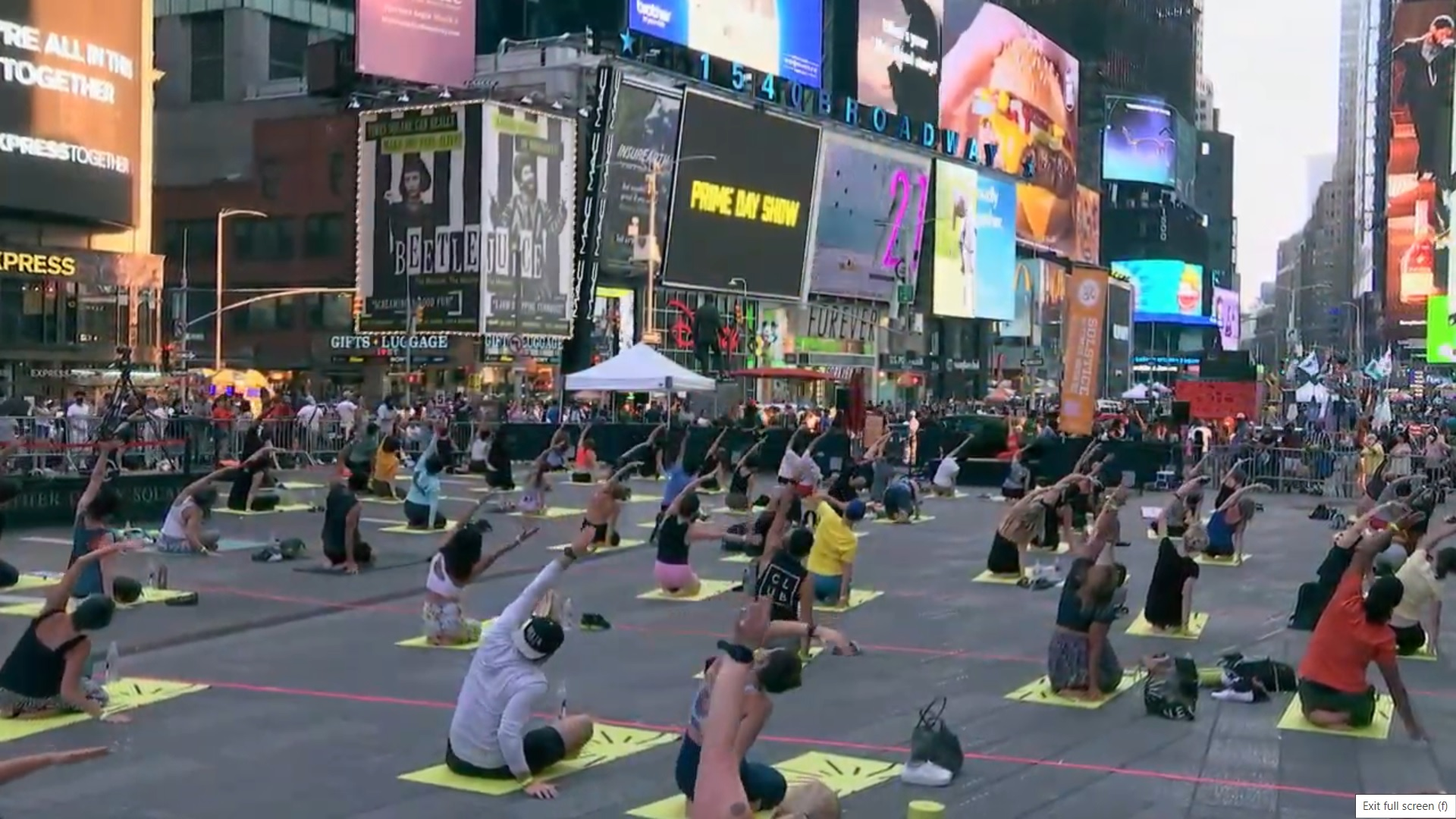 International Yoga Day at Times Square, New York