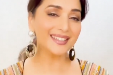Madhuri Dixit's looks ravishing in a black embroidered outfit-Threads-WeRIndia
