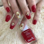 5 Ways To Do Red Bridal Nails Highlighted With Stone Work