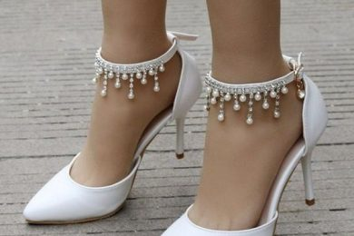 Revamp the look of your plain white heels with these fun DIY ideas