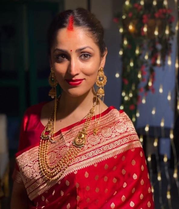 Yami Gautam as newly wed