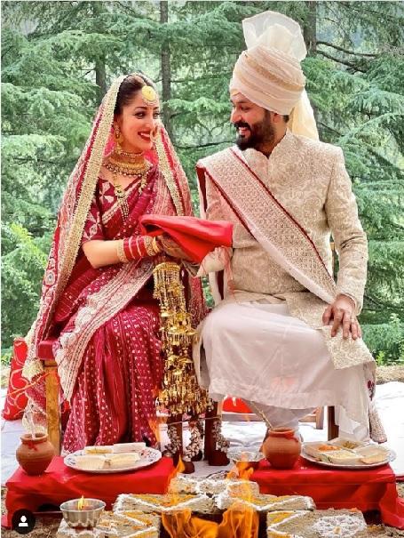 Yami gautam gets married to Aditya Dhar in an intimate wedding ceremony
