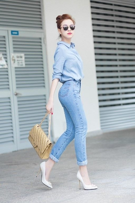 How to look tall wearing denims