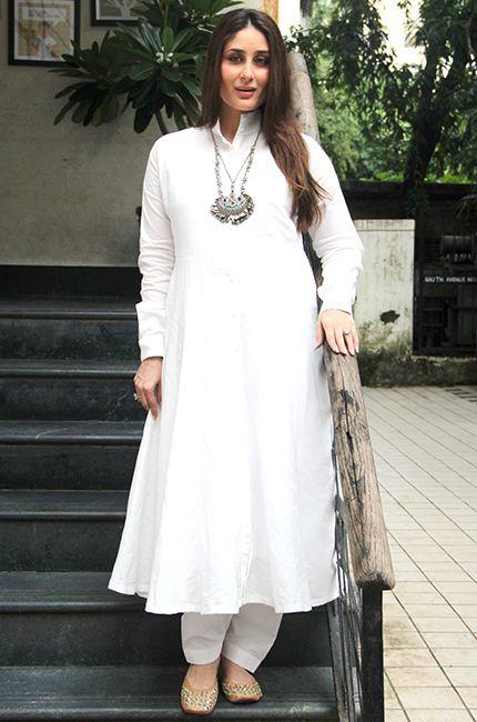 How to style a white kurta salwar
