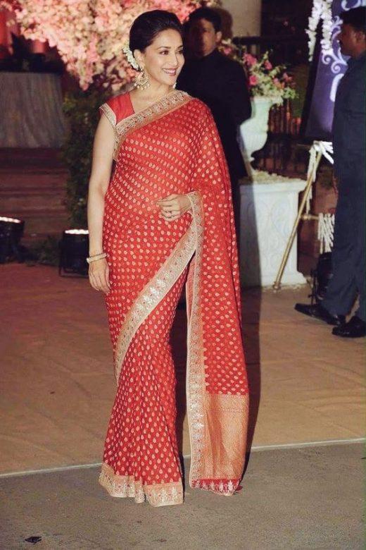 Madhuri Dixit's saree blouse look