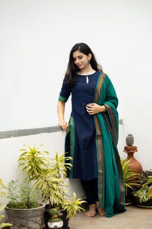 Mangalgiri salwar suit designs