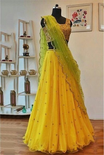 Pastel shade color combinations for lehnga's