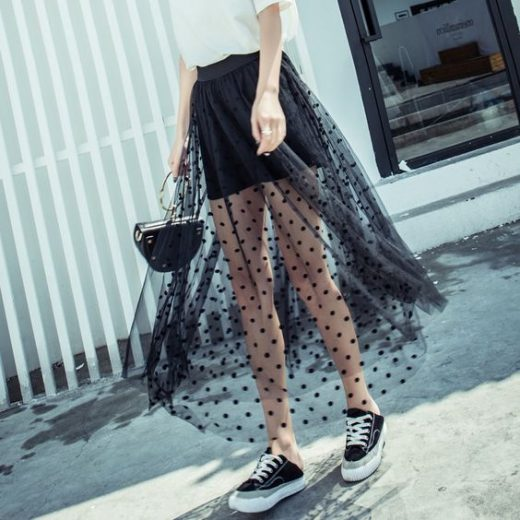 Revamp old dress with net