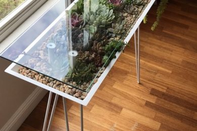 Nature Inspired Succulent Tables For Home Decor