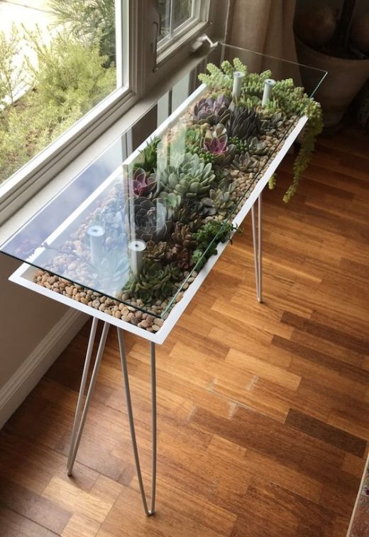 Succulent inspired tables for home decor