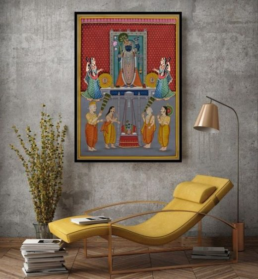 Decorating home with divine paintings