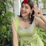 Kajal Aggarwal Celebrates First Haryali Teej After Marriage, Shares Lovely Pics