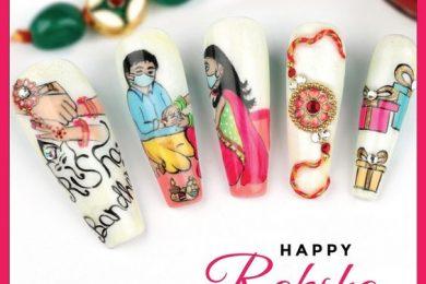 Nail art designs for rakhi-Threads-WeRIndia