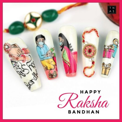 Nail art designs for rakhi