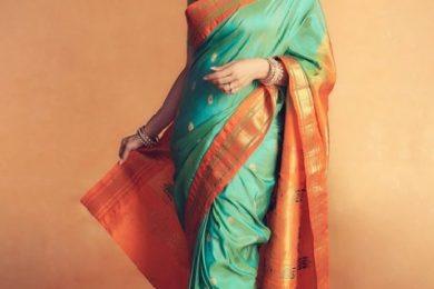 Madhuri Dixit looks gorgeous in a silk saree-Threads-WeRIndia