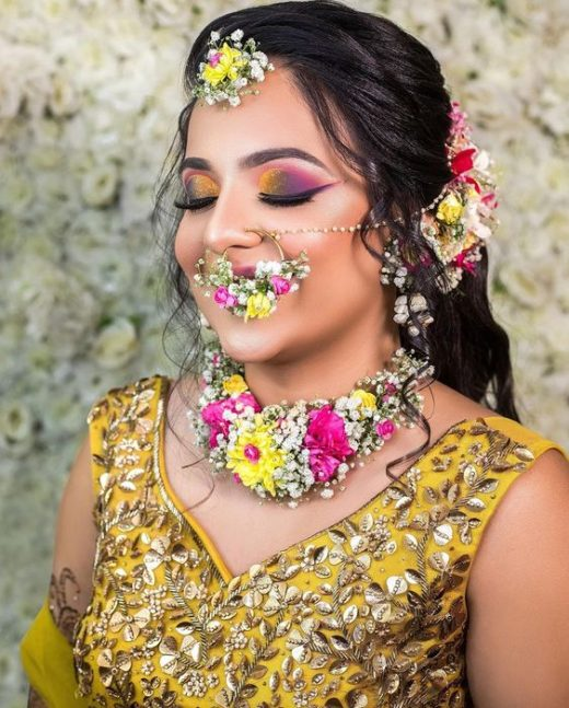 Rainbow eye makeup trend for Indian brides